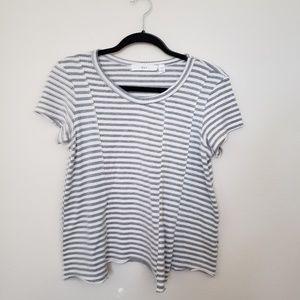 WILT Stripe Assymetrical Sweater Tee